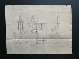 ANNALES PONTS Et CHAUSSEES - Rivetage à Pied-d'oeuvre Par Pression Hydraulique - Gravé Par Macquet 1895 (CLB64) - Travaux Publics