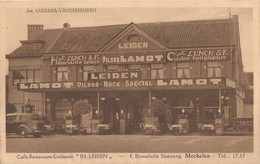 MECHELEN CAFÉ CREMERIE IN LEIDEN STEENWEG OP BRUSSEL 4 JOS. QUERMIA-VANDERBEMDEN RECLAME LAMOT - Mechelen