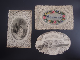 Lot De 3 Images Religieuses Anciennes Canivet - Religione & Esoterismo