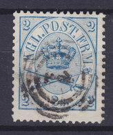 Denmark 1865 Mi. 11 A    2 Skilling Perf. 13 X 12½ Kroninsignien Im Doppeloval '1' Number Cds. Copenhagen (2 Scans) - 1864-04 (Christian IX)