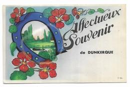 Dunkerque Carte à Système Affectueux Souvenir De Dunkerque - A Systèmes