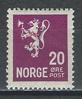 Norwegen Mi 123 * MH - Norvegia