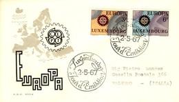 *1967 - LUSSEMBURGO - EUROPA - BUSTA FDC.+6 - FDC