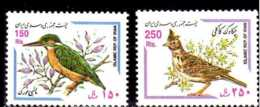 1999 Iran - Birds - Kingfisher-/ Crested Lark - MNH** Mi 2798/99 (bsh) - Iran