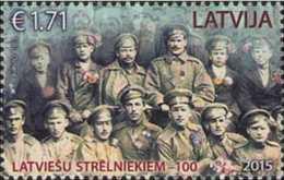2015 Latvia - 100 Years Of Latvian Shooters Batalions - 1 V Paper - MNH** World War I MI 965 - Lettland
