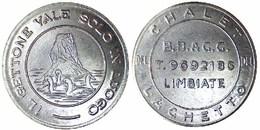 05539 GETTONE JETON TOKEN VENDING LOCAL CHALET DEL LAGHETTO BB & GG LIMBIATE - Italy