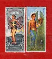 Indonesia **- 1967-1968 -  Tourisme  .   Yvert.  519-543  MNH    Vedi Descrizione - Indonesia
