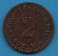 DEUTSCHES REICH 2 PFENNIG 1914 A KM# 16 - [ 2] 1871-1918 : German Empire