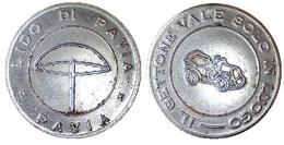 05541 GETTONE JETON TOKEN LUNA PARK AMUSEMENT SALA GIOCO LIDO DI PAVIA - Italy