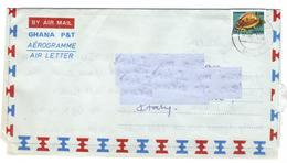 Marcofilia Ghana - Aereogramma  N. 7 - Francobolli, Stamps, Timbres, Sellos,  Briefmarken - Ghana (1957-...)