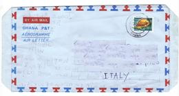 Marcofilia Ghana - Aereogramma  N. 8 - Francobolli, Stamps, Timbres, Sellos,  Briefmarken - Ghana (1957-...)