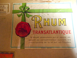 ETIQUETTE RHUM  TRANSATLANTIQUE - Etiquettes
