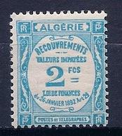 ALGERIE - TAXE 20  2F BLEU NEUF* MLH COTE 22 EUR - Algeria (1924-1962)