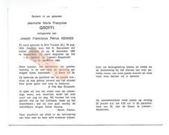 D 736. JEANNETTE GROFFI Echtg. J. Kennes - °ST-TRUIDEN 1916 / +MAASTRICHT (Nl) 1982 - Images Religieuses