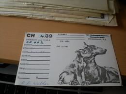 Doberman Dog QSL - Radio Amatoriale