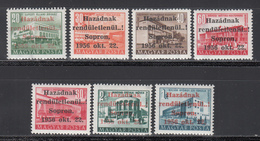 1956 YVERT Nº 1211a / 1211g MHN - Hungría