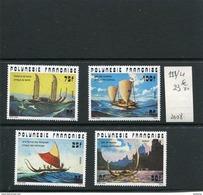 POLYNESIE FRANCAISE-N°111-14 Série-Pirogues AnciennesNeufs Sans Char -TTB Cote23.8euros - Neufs