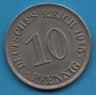 DEUTSCHES REICH 10 PFENNIG 1915 E  KM# 12 Wilhelm II - [ 2] 1871-1918 : German Empire