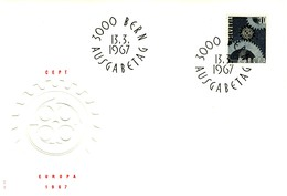 1967 - SVIZZERA - EUROPA - BUSTA FDC.+4 - FDC