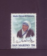 San Marino 1996 - Madre Teresa Di Calcutta, 1v MNH** Integro - San Marino