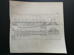 ANNALES PONTS Et CHAUSSEES - Pont De 40m00 D'ouverture Avec Tablier Métallique - Imp. L. Courtier (CLB71) - Travaux Publics