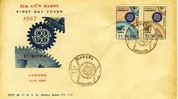 1967 - TURCHIA - EUROPA - BUSTA FDC.+2 - FDC