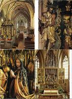 3020w: 4 AKs Pacher Altar In 5360 St. Wolfgang Im Salzkammergut, Ungelaufen, Ca. 1970 - Gmunden