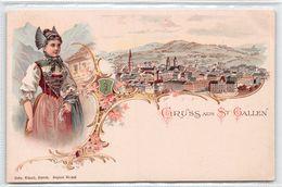 Gruss Aus St. Gallen - Litho - SG St. Gall
