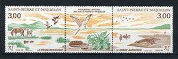SPM MIQUELON 1987 N° 485A ** Neuf MNH Superbe C 5,40 € Le Grand Barachois Chevaux Oiseaux Horses Birds Animaux - Neufs