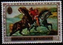 "Tableau ""Chevaux"" (Animaux) - Rwanda - 1970 - Rwanda"