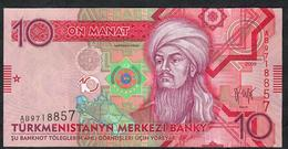 TURKMENISTAN P24 10 Manat 2009 #AB UNC. - Turkmenistan