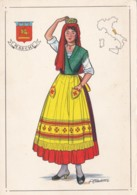 AN91 Folklore - Lady In Traditional Costume Of Marche, Italy - Costumes
