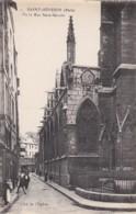 AO69 Saint Severin, La Rue Saint Severin, Cliche De L'Eglise - Iglesias
