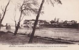 AO69 Avignon, Ensemble Du Pont Benezet Et Palais Des Papes - Avignon