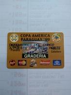 Paraguay The Américas Cup 99 Original Game Tickets Cards Coca Cola Budweiser - Andere