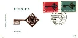 1968 - BELGIO - EUROPA - BUSTA FDC.+5 - FDC