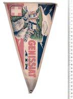 REF ENV : Fanion Flag Pennant Stendardo Touristique Ancien : GENISSIAT Ain Barrage - Obj. 'Remember Of'