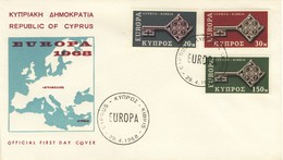 1968 - CIPRO - EUROPA - BUSTA FDC.+5 - Cipro (Repubblica)