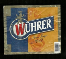 Etichetta - Birra Wuhrer - Birra