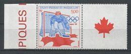 SPM MIQUELON 1988  N° 487 ** Vignette Neuf MNH Superbe C 2.75 € +JO Hiver Calgary Hockey Sur Glace Canada Sports - Neufs