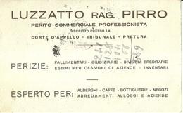 """3248 """"LUZZATTO Rag. PIRRO-PERITO COMMERCIALE PROFESSIONISTA-TORINO """" -CART. POS. ORIG. SPEDITA 1931 - Visiting Cards"""