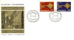 1968 - GRECIA - EUROPA - BUSTA FDC.+5 - FDC