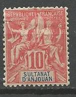 ANJOUAN N° 14 NEUF*  CHARNIERE TB  / MH - Anjouan (1892-1912)