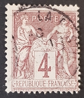 1876-1900, Sage, Pax And Mercur, Type Ll, 4c, France, Empire Française, *,**, Or Used - 1876-1898 Sage (Tipo II)
