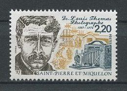 SPM MIQUELON 1988  N° 488 ** Neuf MNH Superbe C 1.25 € Docteur Louis Thomas Appareil Photographique Voiliers Boats - Neufs