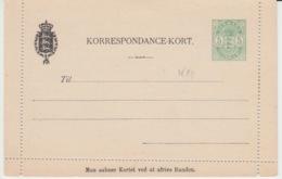 DENMARK KORRESPONDANCE KORT - Ganzsachen