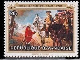 Bicentenaire Des États Unis (Tableau / Cheval) - Rwanda - 1976 - Rwanda