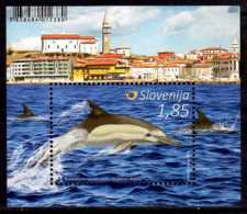 2016 Slovenia - Delfins Of Slovenian Seas - MS - MI B 91 MNH** - Slowenien