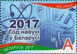 2017 Belarus -Year Of Sceince In Belarus - 1v MNH** MI 1221 - Nuclear And Wind Power, Chemistry, Microscope - Belarus