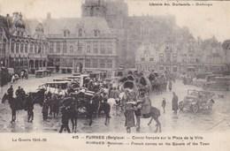 Veurne, Furnes, Guerre 1914-18, Convoi Français Sur La Place De La Ville (pk58780) - Veurne